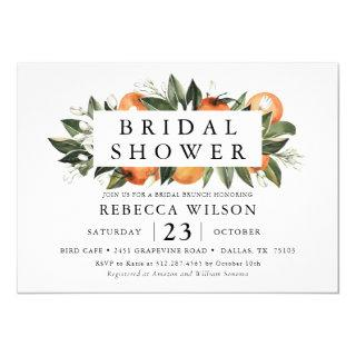 Citrus Theme Rustic Bridal Shower Invitations