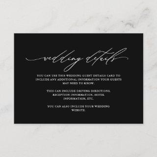 Classic Black and White Details with Calligraphy Enclosure Card