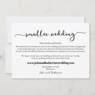 Classic Downsized Smaller Wedding Announcement