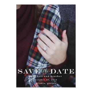 Classic Save The Date Magnetic Card