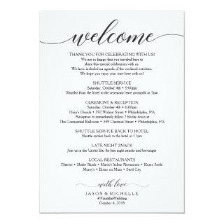 Classic Script Wedding Itinerary - Wedding Welcome Invitations