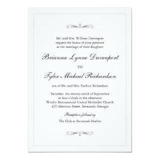 Classic Simple Elegance Wedding Invitations