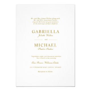 Classic simple minimalist wedding Invitations