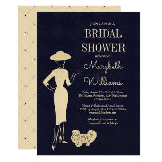 Classic Vintage 50's Fashion Bridal Shower Card