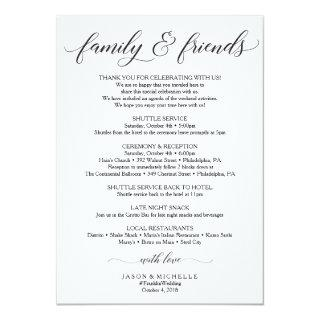 Classic Wedding Itinerary - Wedding Welcome Family Invitation