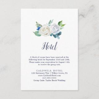 Classic White Flowers Hotel Enclosure Card