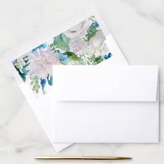 Classic White Flowers Pattern Envelope Liner