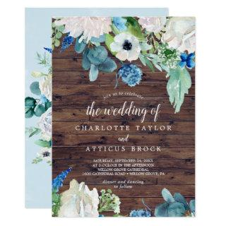 Classic White Flowers | Rustic The Wedding Of Invitation