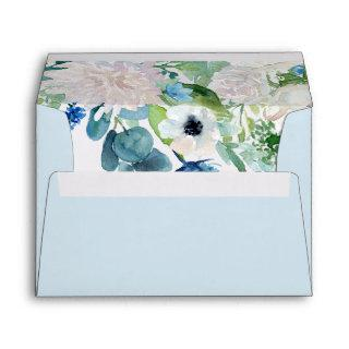 Classic White Flowers Wedding Invitation Envelope