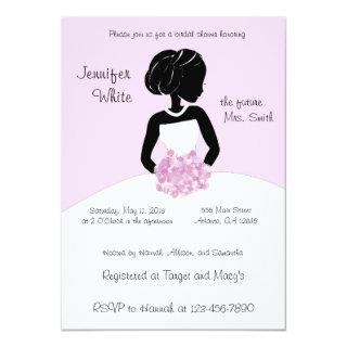 Classy Black White  Pink Bridal Shower Invitations