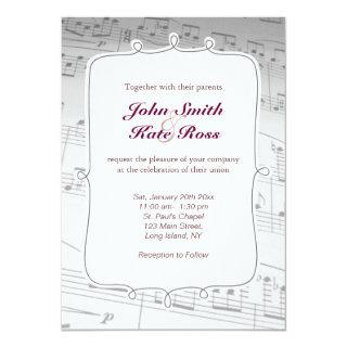 Classy Music Notes Wedding Invitation