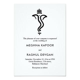 Classy Simple Ganesha/Indian God Wedding Invitations