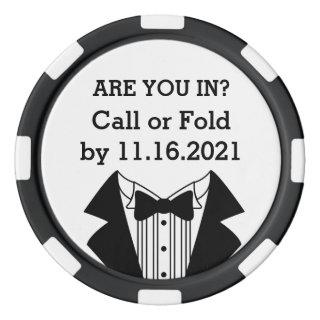 Clay Poker Chip Best Man or Groomsman Invite