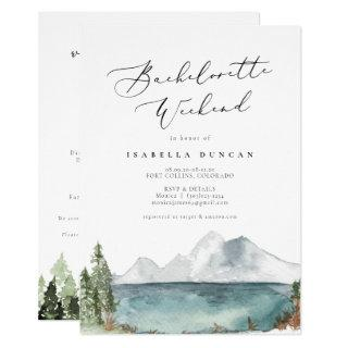 Clover - Bohemian Watercolor Mountain Lake Invitation