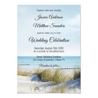 Coast with Dunes Beach Wedding Invitation