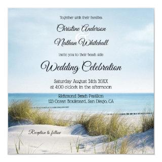 Coastal Beach or Destination Wedding Invitation
