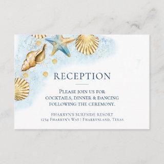 Coastal Chic | Modern Coral Reef Enclosure Card