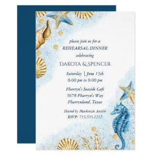 Coastal Chic | Modern Coral  Reef Rehearsal Dinner Invitations
