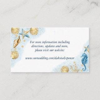 Coastal Chic | Modern Coral Reef Website Enclosure Card