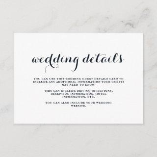 Coastal Wedding Blue, Red, and White Guest Details Enclosure Card