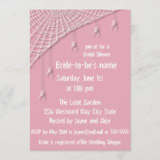 Cobwebs and White Spiders Bridal Shower