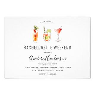 Cocktail Drinks Bachelorette Itinerary Invitations