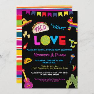 Coloful Taco Bout Love Fiesta Couples Shower Invitations