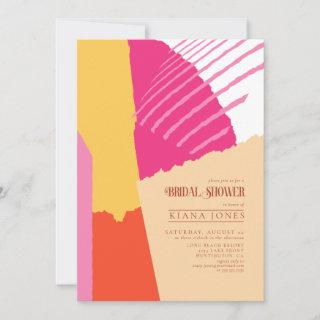 Color Block Wedding Bridal Shower Summer ID740 Invitations