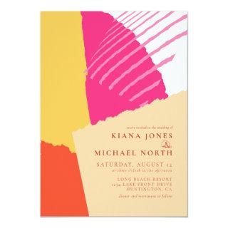 Color Block Wedding Summer ID740 Invitations