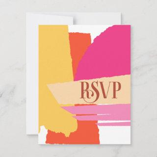 Color Block Wedding Summer ID740 RSVP Card