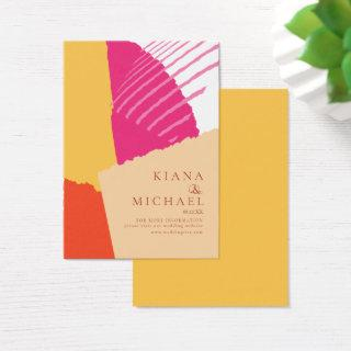 Color Block Wedding Website Summer ID740