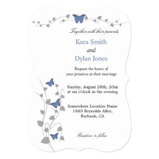 Color Editable Butterfly Wedding Invitations