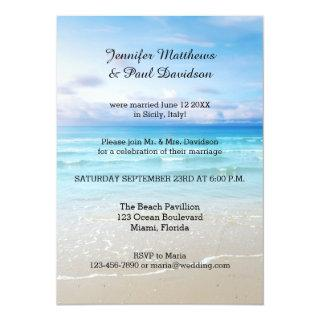 Colorful Beach Post Wedding Party Invitations