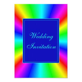 Colorful Bright Rainbow Wedding Invitation