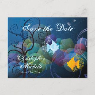 Colorful Fish Tropical Save the Date Wedding Announcement Postcard