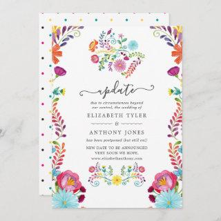 Colorful Floral Mexican Fiesta Wedding Update Invitations