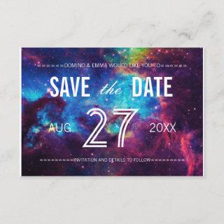 Colorful Galaxy Save the Date