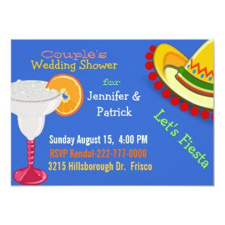 Colorful Mexican Fiesta Couple's Wedding Shower Invitations