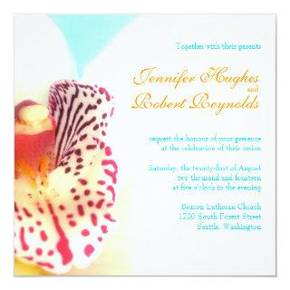 Colorful Orchid Wedding Invitation