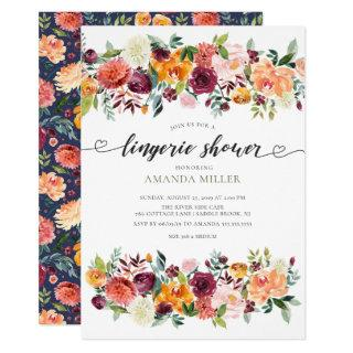 Colorful Paprika Bridal Lingerie Shower Invitation