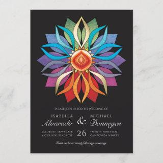 Colorful Peace Flower Wedding