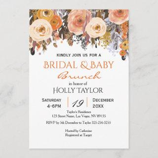 Combined Baby Shower and Bridal Shower Ideas Invitation