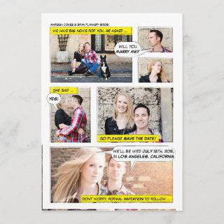Comic Book Strip Save the Date
