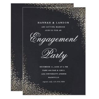 Confetti faux foil engagement party Invitations