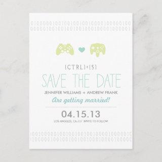 Controller Love Save the Date Announcement Postcard