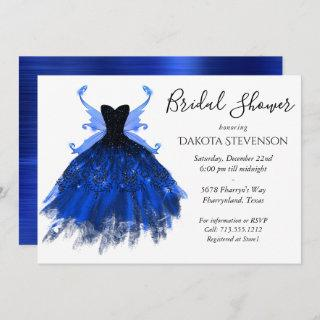 Cool Princess Blue Fairy Wing Gown | Bridal Shower Invitations