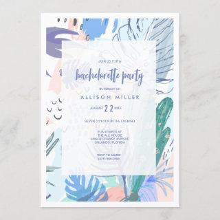 Cool Summer Tropical Beach Bachelorette Party Invitations