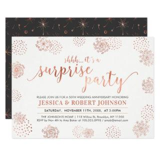 Copper | Modern Surprise 50th Wedding Anniversary Invitations