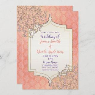 Coral Lavender Gold Moroccan Glam Indian Wedding