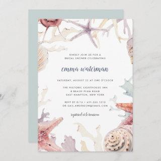 Coral Reef Bridal Shower Invitations